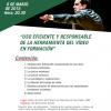 """""""Uso eficiente y responsable de la herramienta del vídeo en formación"""" (Conferencia formativa)"""